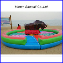 2015 new stype kids Inflatable mechanical Bull Riding Buffalo amusement for sale