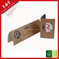 Brand hollowed centerfold vintage paper hang tag