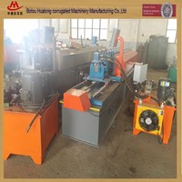 Metal steel light keel purlin roll forming machine with punching