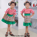 Short Sleeve Cute Baby Cartoon Stage Dress Children Lovely Frocks Design