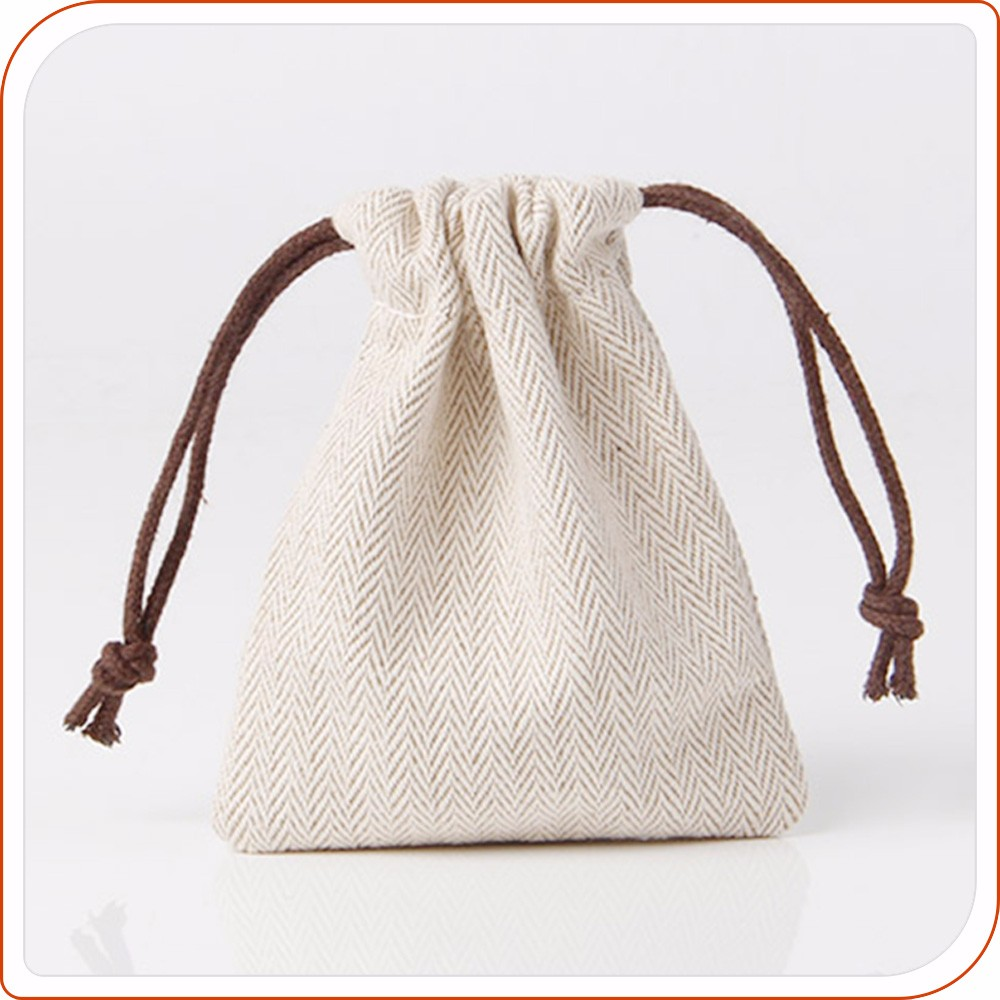 printed fabric cotton pouch jewelry bag drawstring