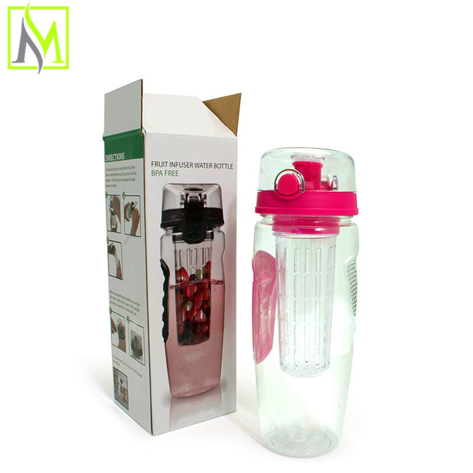 hot new design leak proof plastic fruit infuser gallon travel mug