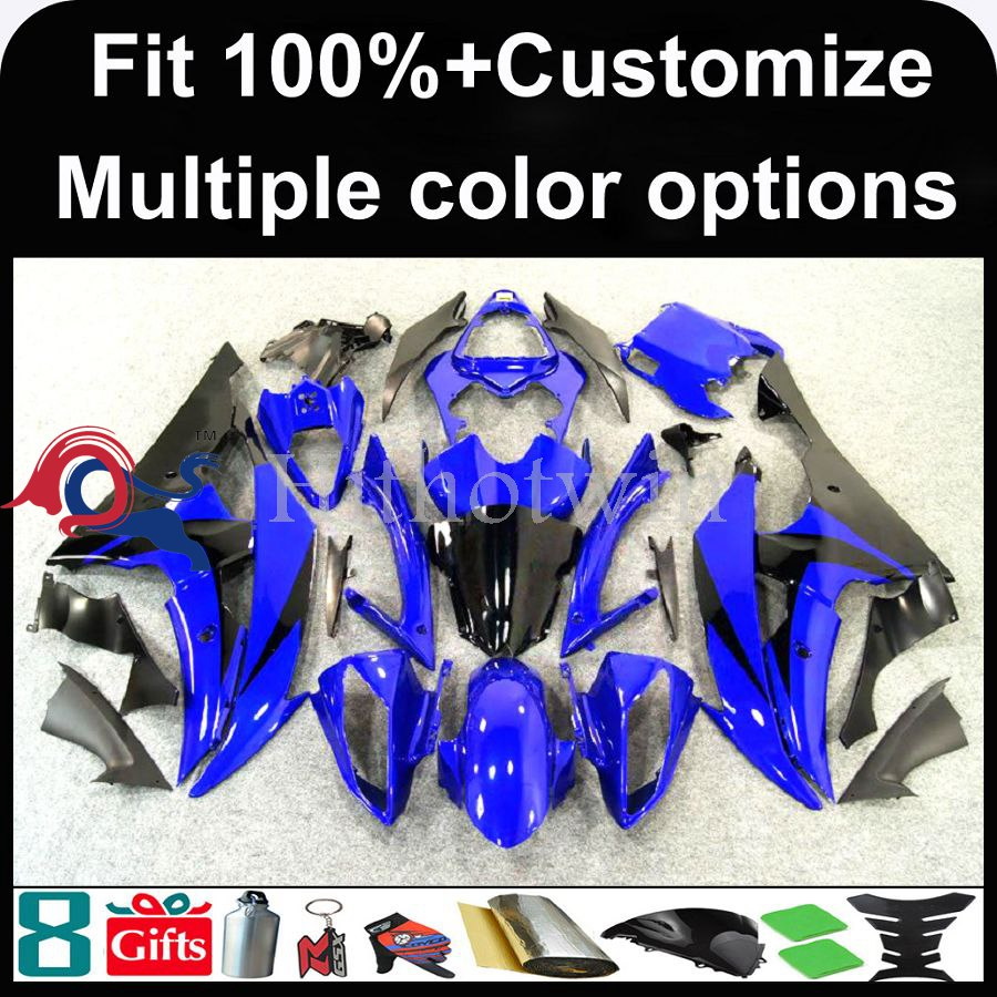 INJECTION MOLDING panels 2008 2009 2010 2011 2012 YZFR6 For yamaha blue Fairing Fit YZF R6 2008 2012 2009 2011