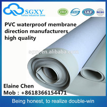 Good quality Polyvinyl Chloride (PVC) rubber roofing waterproof self adhesive membrane