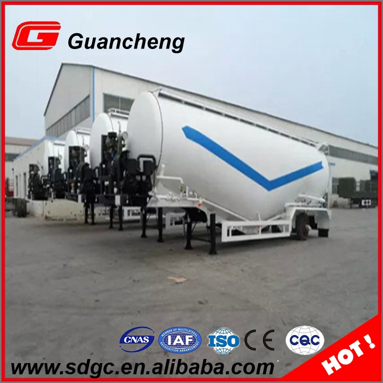 50m3 dry powder material bulk cement trailer tank
