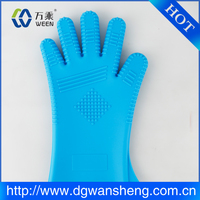 Oven silicone bbq gloves pot holder gloves, silicone finger tips glove