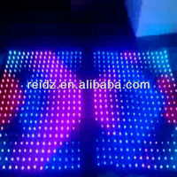 P100 led programmable curtain music interactive display