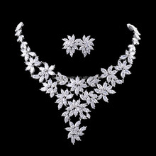 Elegant Rhinestone jewelry sets necklace and earrings for women jewelry
