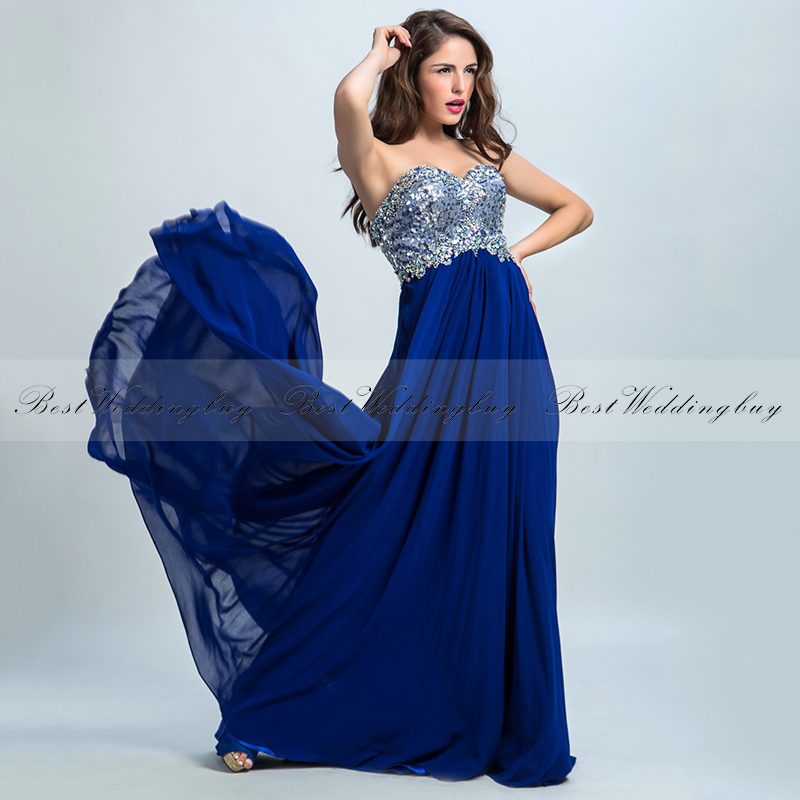 2017 Alluring Sweetheart A-line Beads Sleeveless Chiffon Evening Dresses LX097