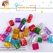 Synthetic Braiding Hair Beads Rings Cuff Clips Jewelry And Hair Strings For Braids Locs Wire Wraps,Colorful Braids Hair Beads