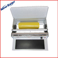 Japan market convenient food tray wrapping cling film packing machine
