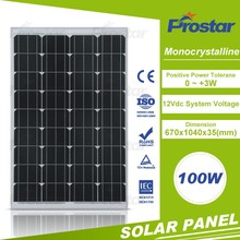Top sell mono 100w without broken solar panel for sale