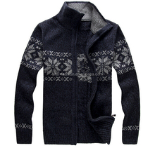 men snowflake turtleneck zip up norwegian nordic design sweaters