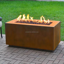 Corten Steel Propane Fire Pit Table /Corten Steel Firepit /Corten steel table for outdoor furniture