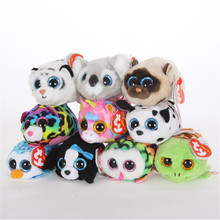 Cute 8-10cm TY Beanie Boos Big Eyes Animals Soft Penguin Tiger Koala Puppy Toy Plush Stuffed Toys