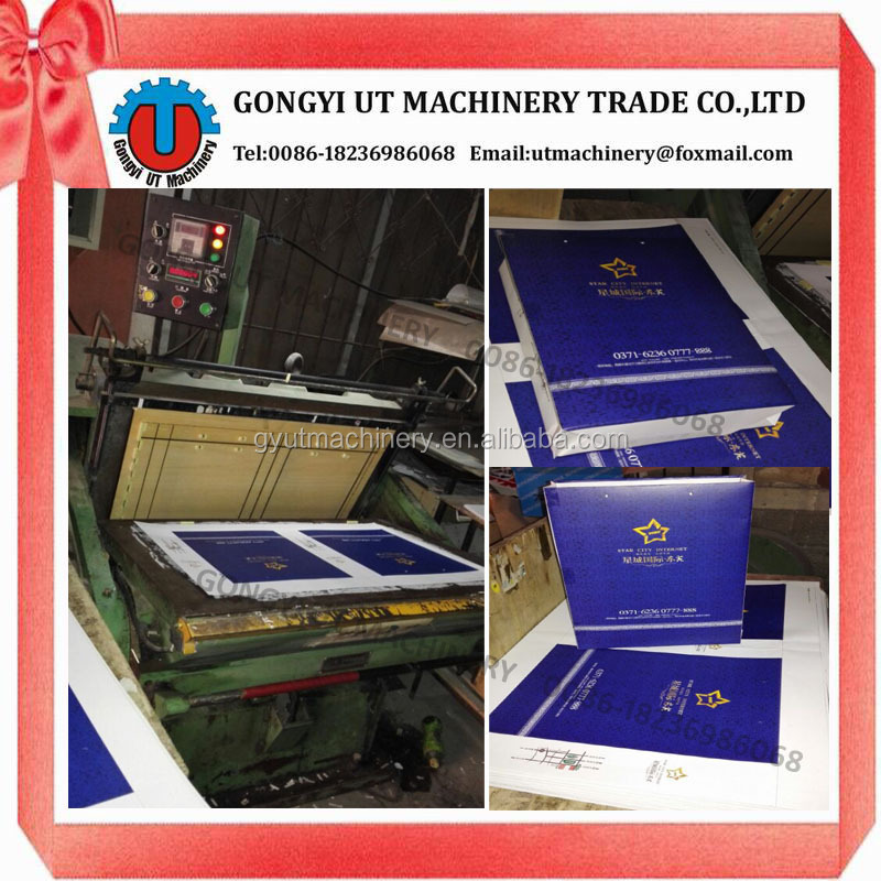 Carton box/Paper Box Platen Punching Making Machine