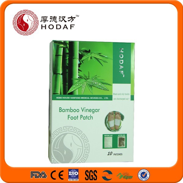 CE FDA approved korea Healthcare Bamboo Vinegar Detox foot patch