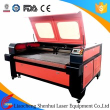 double heads independent moving garment fabric leather CO2 laser cutting machine price