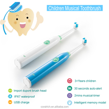 2017 Hot Saled Kids Musical Toothbrush Electric Rechargeable Toothbrush for Children