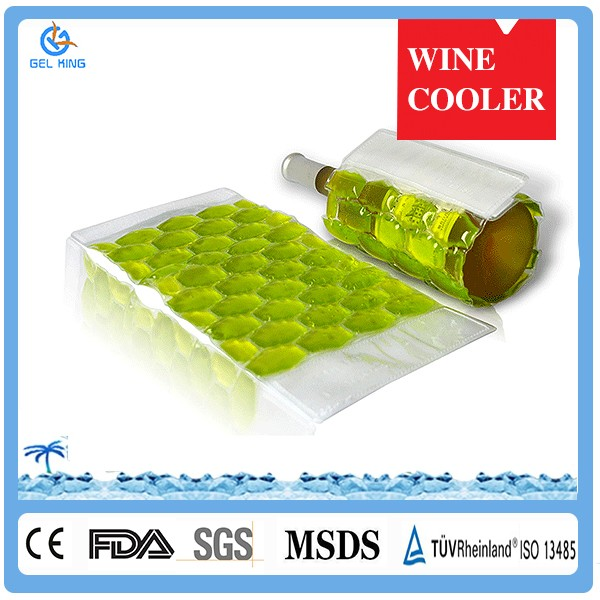 Promotional Item Nylon Gel Wine Cooler Chiller Sleeve Bag