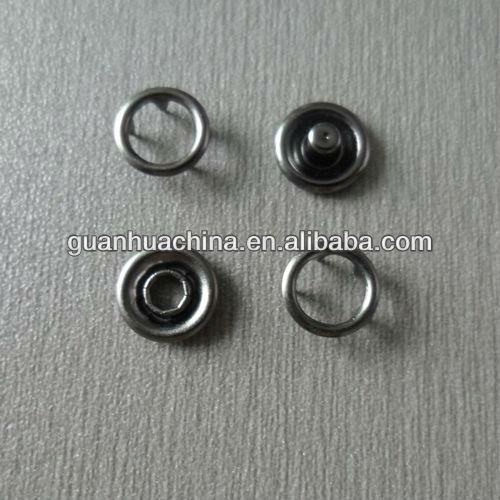 10mm ring snap button with gun metal color