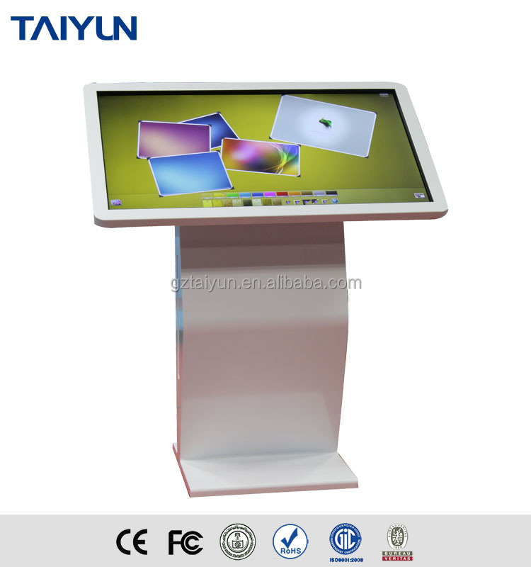 55 Inch Full HD lcd digital signage touch screen kiosk monitor with interactive wifi