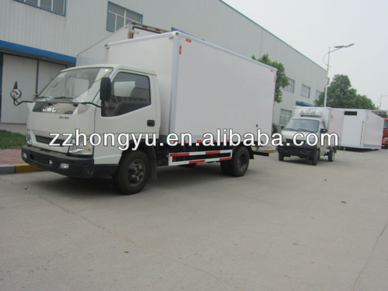 cheap 3-6tons refrigerator freezer cargo van for cold food/mini refrigerated van