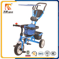 Ride on baby stroller tricycle steel frame pedal tricycle made in china