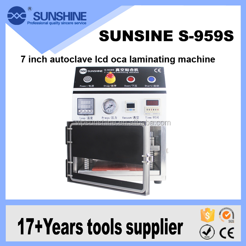 7 inch lcd screen use Constant temperature heating autoclave lcd oca laminating machine and air bubble removing machine