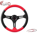 Ryanstar Universal 14inch car racing leather steering wheel car manufacturer