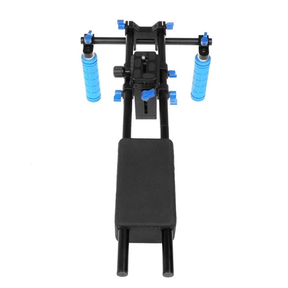 DSLR Camera Shoulder Rig Support Pad with Handle & Cage & Matte Box for Canon 5D2 5D3 6D 7D 60D 70D