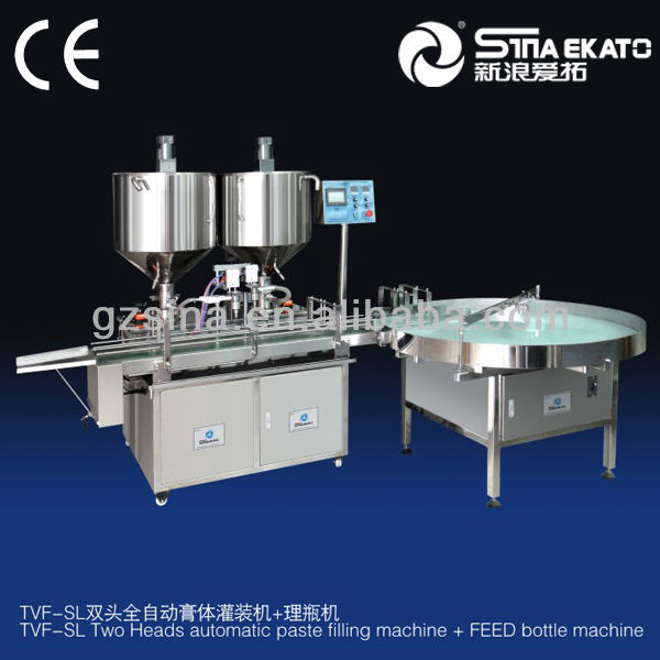 SUS316 Material, Shampoo Filler, Liquid Two Heads Automatic Filling Machine