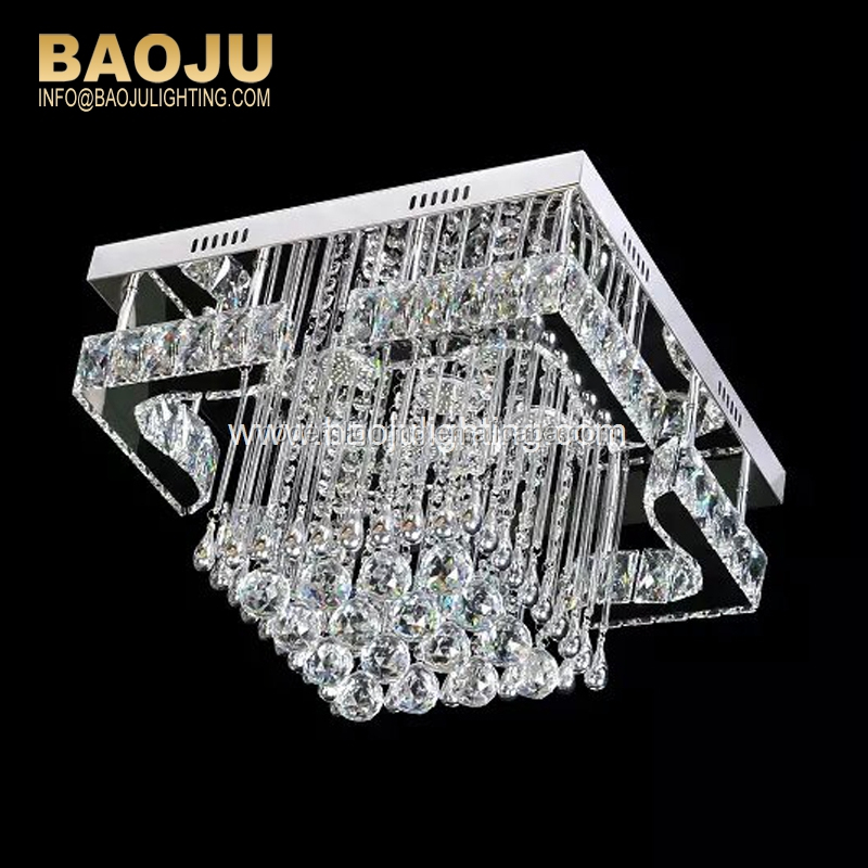 Wholesale square corridor led crystal lights dimmable VDE/UL suspended ceiling light