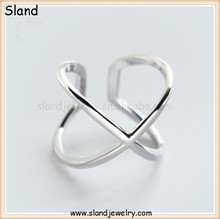 Absolutely Creative!!! Cubic X shape unique sterling silver rings - Strange shape s925 pure silver jewellery ring made in China