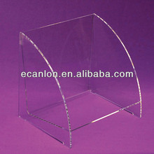 Acrylic counter top book display trays