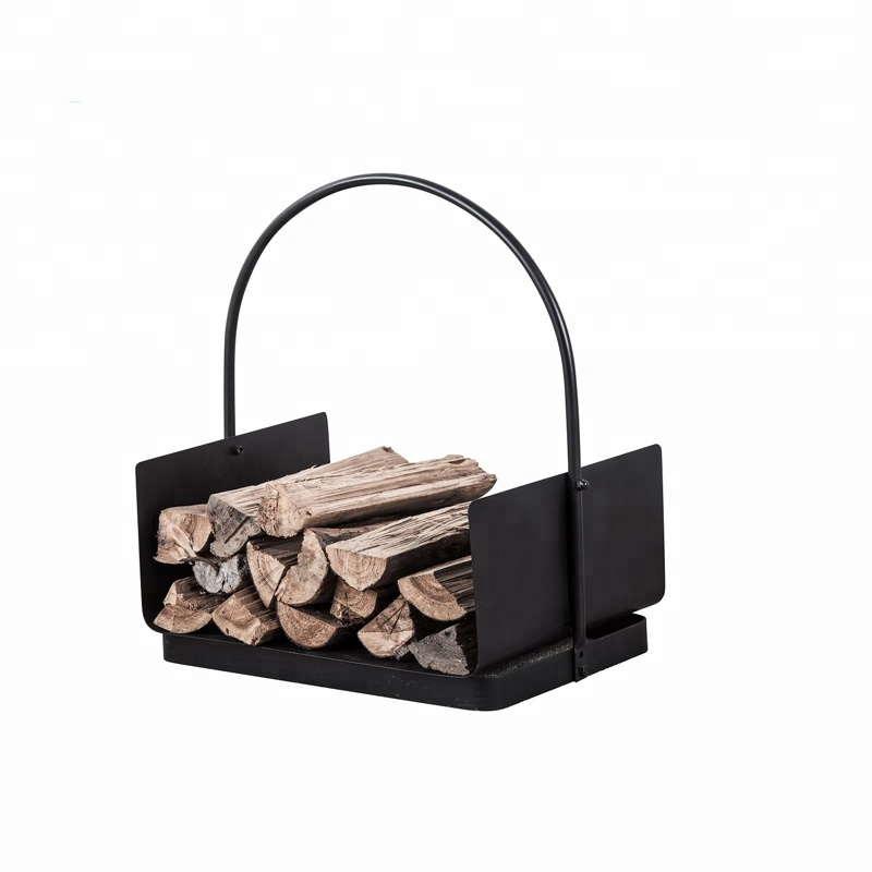 Steel outdoor wood holder easy carrying