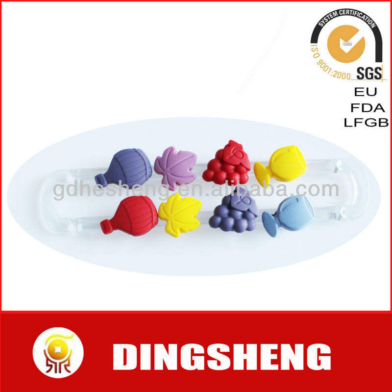 Fruit shape silicone glass marker with sucker