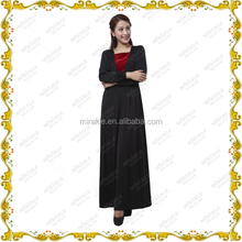 MF23571 hot sale horse collar tunic skirt of soft long sleeve abaya dress