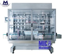 12 nozzles beverage filling machine linear type soft drink filler with piston pump and mixing tank