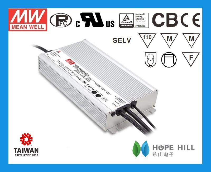 2014 newest Meanwell LED power supply HLG-600H series