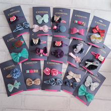 New arrival 54 designs flower bow hair clips for baby hot sale USA