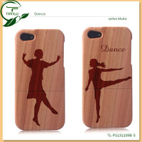 Striking shockproof wood cellphone case with customized graphic engraved/Wood Case For I Phone5/5s