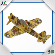 Custom PP puzzle card, airplane 3d puzzle card, 3d puzzles for adults