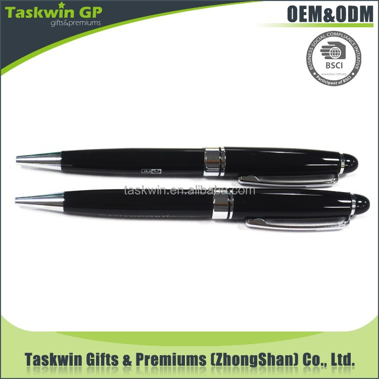 High quality metal pen/promotional black ball pen