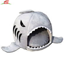 Washable Large Mouth Shark Sponge House Puppy Pet Nest for Cat Dog Bed