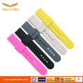 Flat silicone strap 18MM smart watch strap full color watch band rubber
