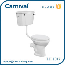 Bathroom wc washdown toilet two piece water closet LT-1017