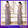 Best Selling Elegant Deep V-Neck Cap Sleeve Sexy Bare Back Flower Decorated Beaded Arabic Celebrity Dress (CTD011)