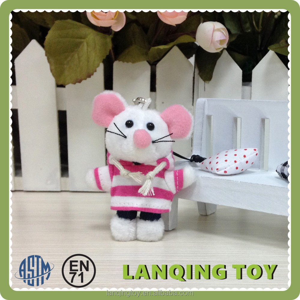 6CM Mini Mouse Soft Toy Custom Live Plush Animal Keychain