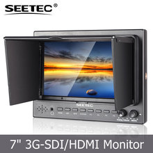 "7"" Pro-Broadcast HD Monitor 3RU IPS 1280*800 SDI & HDMI for photography shooting"